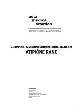ATIPIČNE RANE - Hrvatska udruga za rane