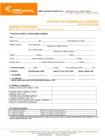 Leasing pokretnina zahtjev za odobrenje leasinga