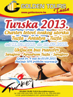 Charter letovi svakog utorka Tuzla - Antalya - Tuzla