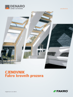 CJENOVNIK Fakro krovnih prozora