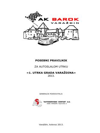 1. utrka grada varaždina - Auto Klub BAROK