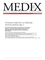 Hrvatske smjernice za liječenje šećerne bolesti tipa 2 - CRO-ENDO