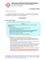 HRVATSKA UDRUGA ŠAHOVSKIH SUDACA Izvješće
