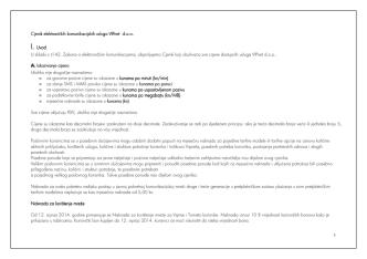 1 Cjenik elektroničkih komunikacijskih usluga elektroničkih