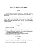 Zakon o klasifikaciji