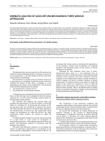 kinematic analysis of quick-return mechanism in three various