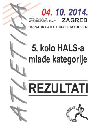 Cjelokupni plasmani i rezultati 5. kola Hrvatske atletske