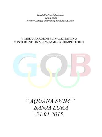AQUANA SWIM `` BANJA LUKA 31.01.2015.