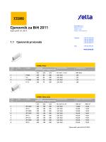 Cjenovnik za BiH 2011