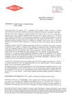 Izvješće Uprave Društva 2014