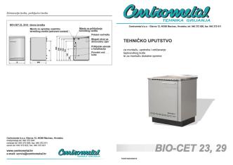 Centrometal BIO-CET 23/29 - tehničke upute