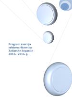 Program razvoja sektora ribarstva Zadarske županije 2013.