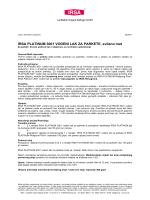 Technisches Datenblatt - IRSA Lackfabrik Irmgard Sallinger GmbH
