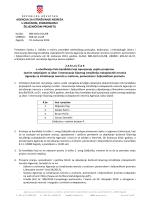 Zaključak o utvrđivanju liste kandidata koji ispunjavaju uvjete