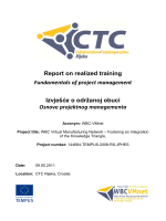 Report on realized training Fundamentals of project - WBC