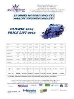CIJENIK 2014 PRICE LIST 2014