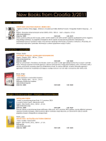 New Books from Croatia 3/2011