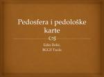 Pedosfera i pedoloske karte 2012