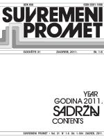 UDK 656 ISSN 0351-1898 GODI[TE 31 ZAGREB, 2011. Br. 1-6