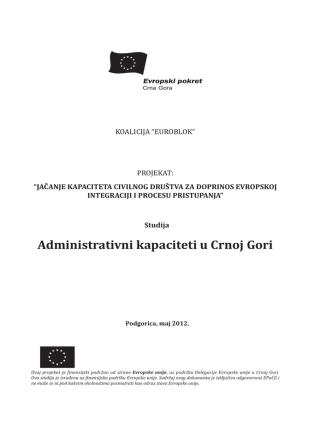 Administrativni kapaciteti u Crnoj Gori