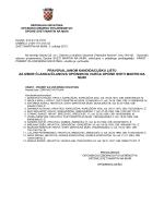 prihvaćene kandidacijske liste i zbirna lista za članove općinskog