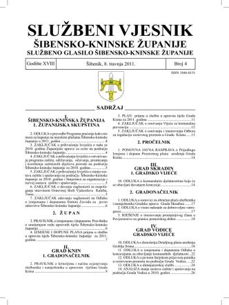 04/11 - Šibensko-kninska županija