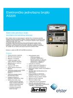 Elektroničko jednofazno brojilo AS220