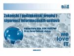 Pravni propisi i sigurnost informacijskih sustava