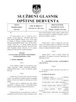 """""""Službeni glasnik opštine Derventa"""", broj: 2/11"""