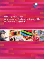 Katalog referenci tekstilne i obućarske industrije Međimurske