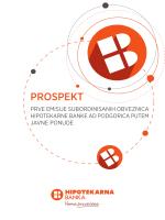 PROSPEKT - Hipotekarna Banka