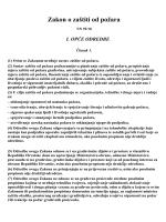 Zakona o zaštiti od požara - eurosanacije