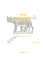 LECTIO SEXTA ET TRICESIMA XXXVI