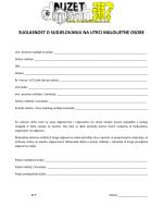 suglasnost o sudjelovanju na utrci maloljetne osobe