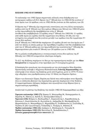 123 Κώστας Τσιώρας - 50 ΧΡΟΝΙΑ Φ.Σ. ΚΟΖΑΝΗ (1964
