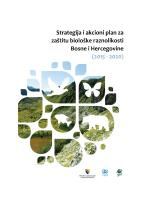 strategija i akcioni plan za zaštitu biološke raznolikosti