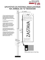 Uputstvo za postavljanje zastave na jarbol L nosac