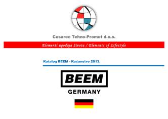 BEEM – Katalog kućanstvo