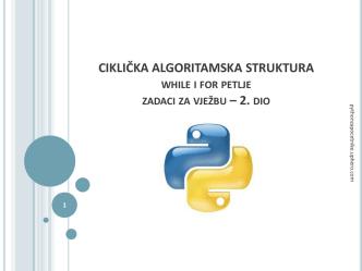 Ciklička algoritamska struktura