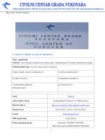 Broj: 01/01-10-2013/Vukovar I - civilni centar grada vukovara