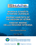 morska staništa istarske županije marine habitats of the region of