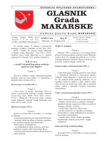 Glasnik Grada Makarske