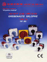 grebenaste sklopke rotary cam switches