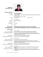 CV - Rudarsko geološko građevinski fakultet