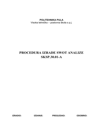 30.01-A Procedura_izrade_SWOT_analize