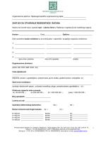 zahtjev za otvaranje rezidentnog računa