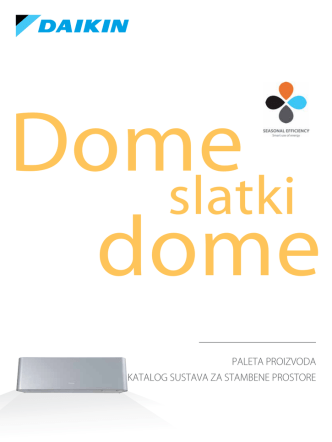 Daikin katalog sustava za stambene prostore 2013