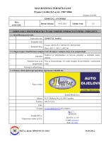 SIGURNOSNO-TEHNIČKI LIST Prema Uredbi (EZ