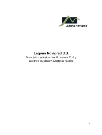 2010 - Q4 - Laguna Novigrad