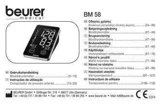 BEURER GmbH • Söflinger Str. 218 • 89077 Ulm
